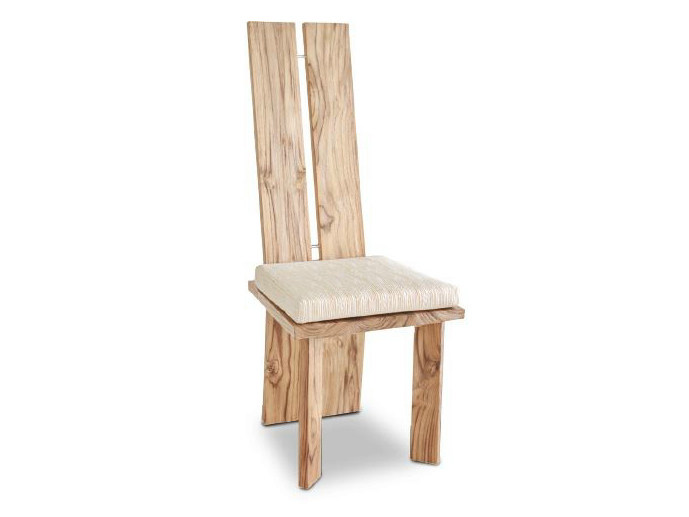 High-back wooden chair ORIGINS | Chair - WARISAN