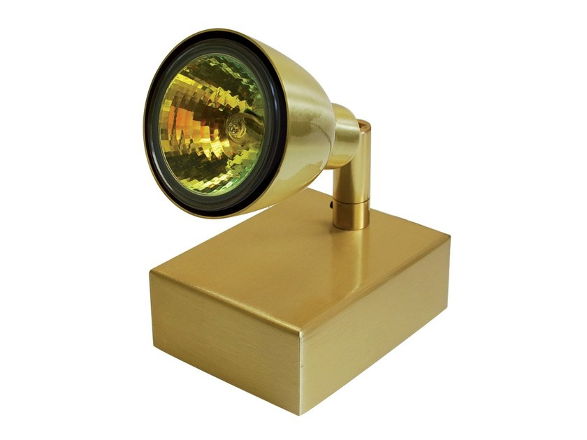 Adjustable brass spotlight ARIANE | Spotlight - TEKNI-LED
