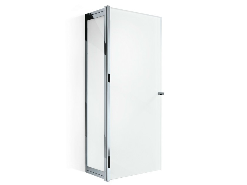 Suspended glass bathroom cabinet with doors S 3 - DECOR WALTHER