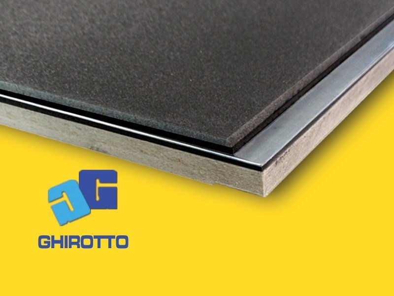 Sound insulation and sound absorbing felt with lead-laminate PIOMBOSYSTEM S - GHIROTTO TECNO INSULATION