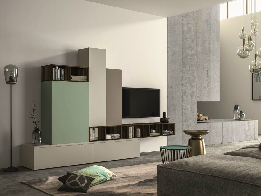 Sectional storage wall SLIM 107 - Dall'Agnese
