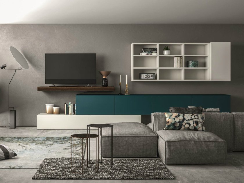 Sectional storage wall SLIM 109 by Dall'Agnese