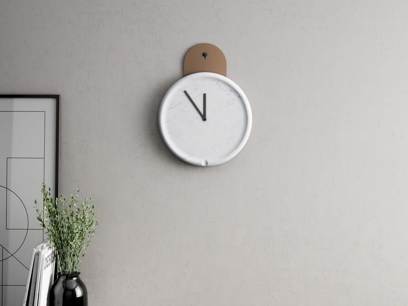 Wall-mounted marble clock TANKO | Clock - RETEGUI