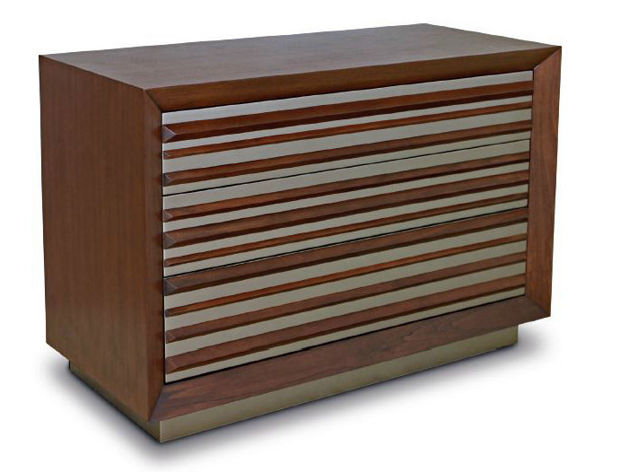 Wooden sideboard with drawers PRISM - WARISAN