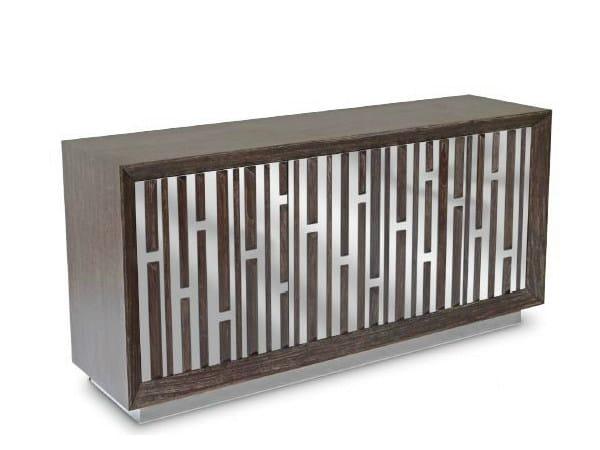 Wooden sideboard with doors SEKA - WARISAN