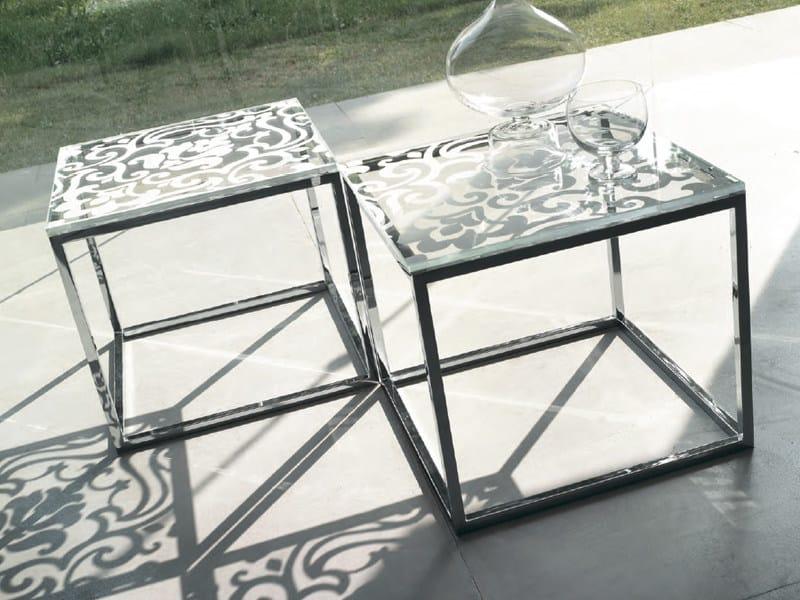 Tavolino quadrato basso deco by feg industria mobili for Industria mobili