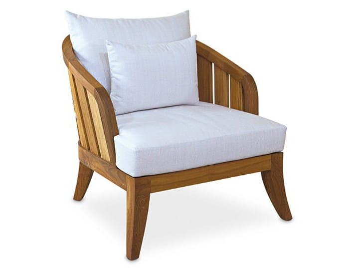 Teak garden armchair with armrests SOPHIE | Armchair - WARISAN