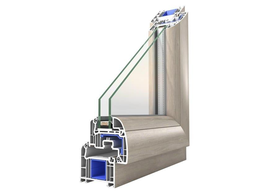 PVC double glazed window PROLUX by Oknoplast