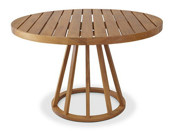 Round teak garden table BELLA | Round table - WARISAN