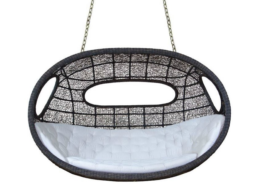 2 Seater rattan garden hanging chair ONDA | Garden hanging chair by WARISAN