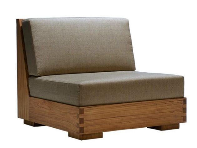 Wooden garden armchair NIKI | Armchair - WARISAN