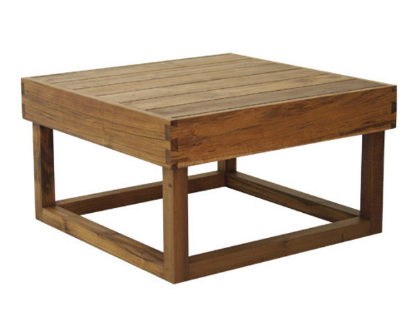 Square wooden garden side table NIKI | Coffee table - WARISAN