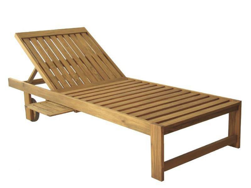 Recliner wooden garden daybed ULUWATU - WARISAN