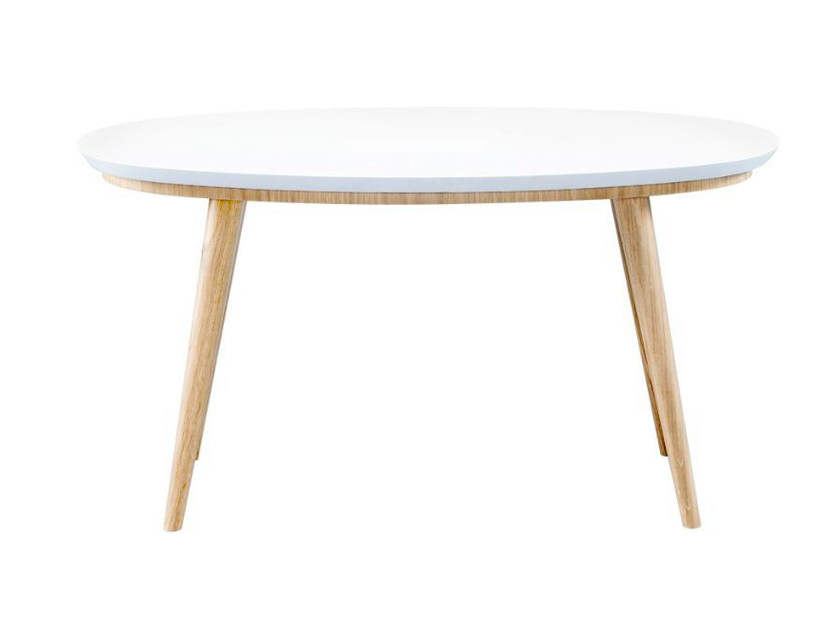 Lacquered oval wooden coffee table SYRUS | Oval coffee table - AZEA