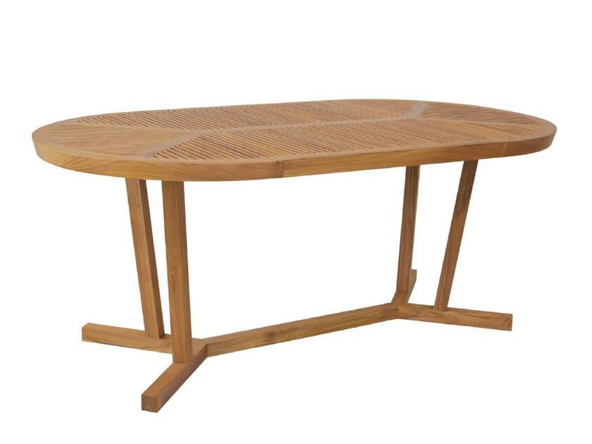 Oval garden table KOROGATED | Oval table - WARISAN