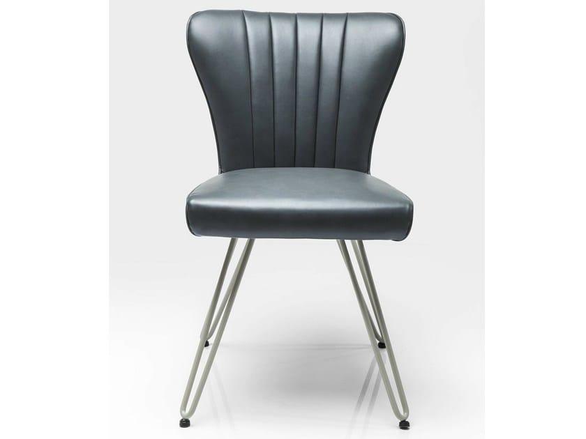 Upholstered leather chair DINER - KARE-DESIGN