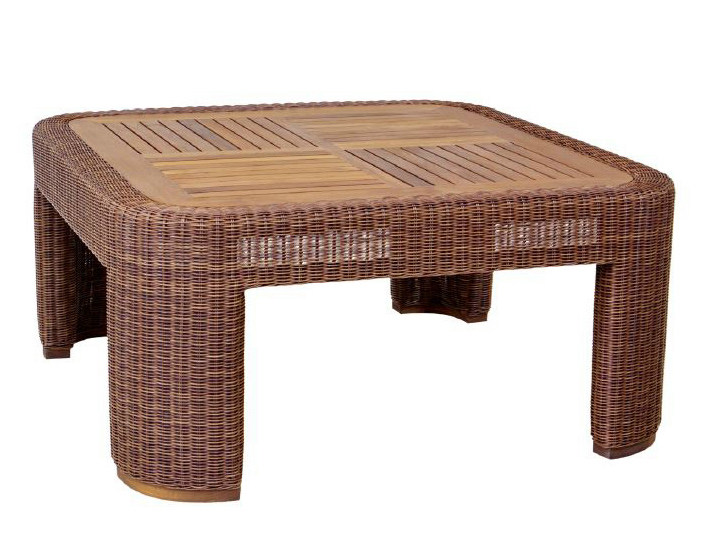 Rectangular rattan garden side table TEABU | Coffee table by WARISAN