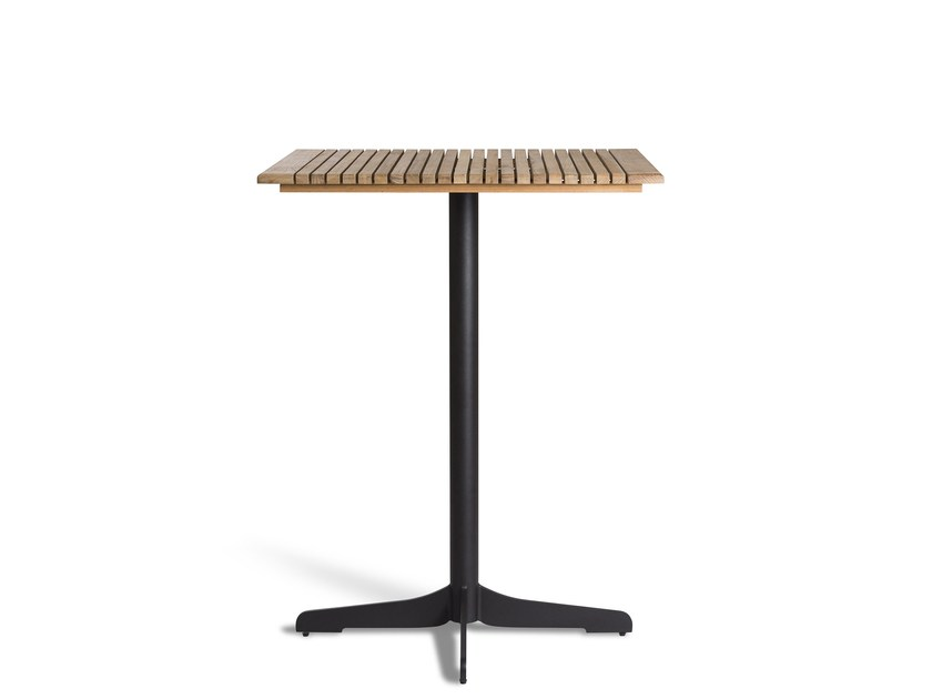 Aluminium high table with 4-star base CERU | Contract table - OASIQ