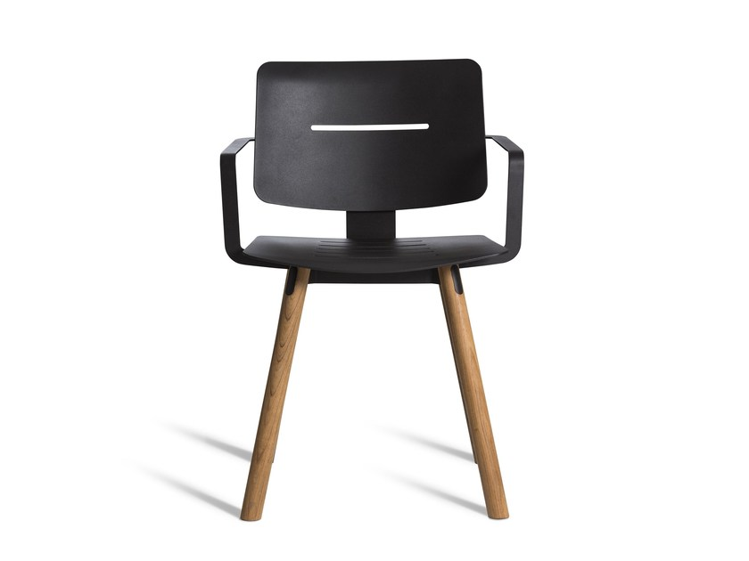 Aluminium garden chair with armrests COCO | Chair with armrests - OASIQ
