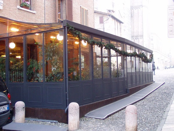 Iron conservatory IRON CONSERVATORY FOR RESTAURANT - CAGIS