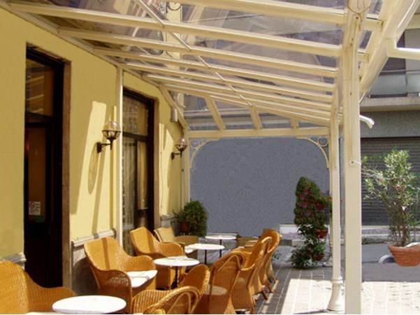 Glass and iron gazebo CONSERVATORY FOR CAFÈ by CAGIS