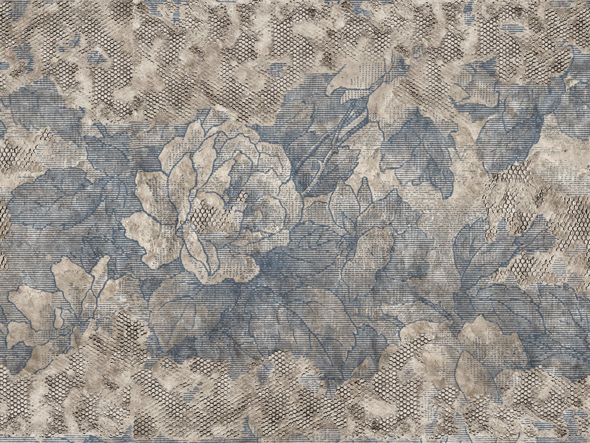 Wallpaper with floral pattern BROCART by Wall&decò