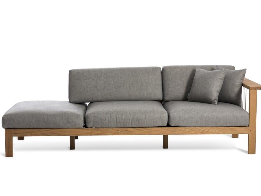 Garden sofa with chaise longue MARO | Sofa with chaise longue - OASIQ