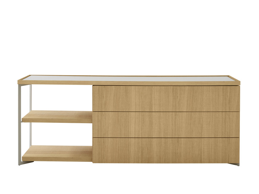 Oak sideboard with drawers ESTAMPE | Sideboard with drawers by Ligne Roset