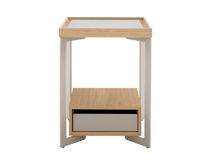 Bedside table with drawers ESTAMPE | Bedside table - ROSET ITALIA
