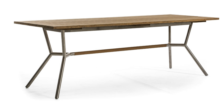 Rectangular teak garden table REEF | Dining table - OASIQ