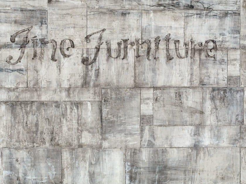 Carta da parati effetto muro con scritte furniture by wall for Carta da parati adesiva effetto muro