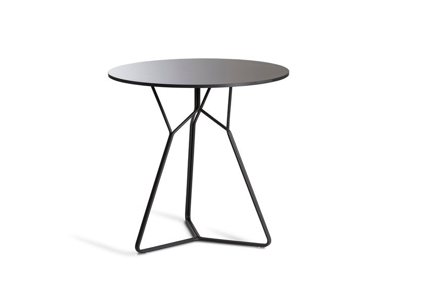 Round stainless steel garden table SERAC | Table by OASIQ