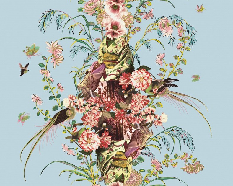 Wallpaper with floral pattern JAP by Wall&decò