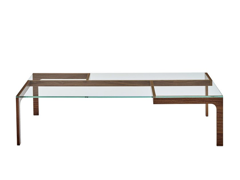 Low rectangular coffee table GARRY | Low coffee table - ROSET ITALIA