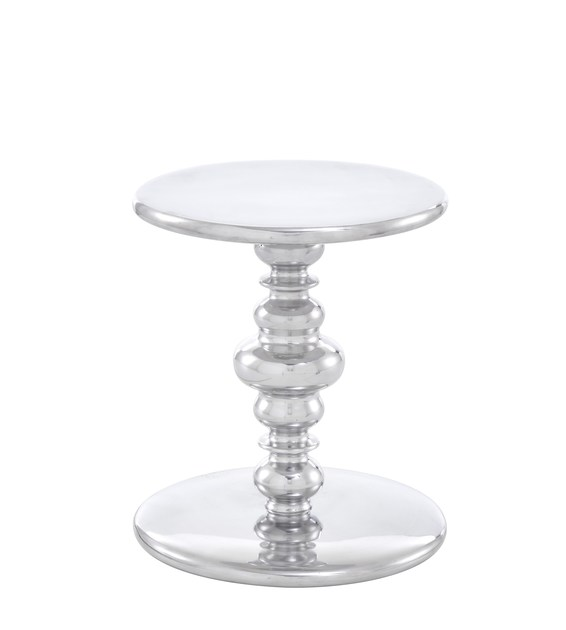 Round aluminium coffee table KUF | Aluminium coffee table by Ligne Roset