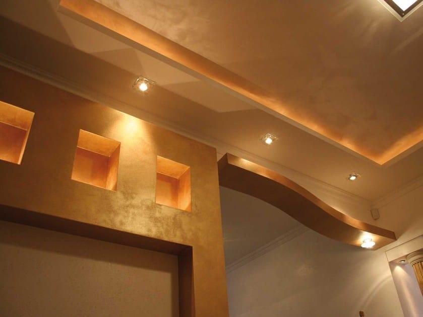 Pittura decorativa ad effetto metallizzato imperium oikos - Pittura decorativa pareti ...