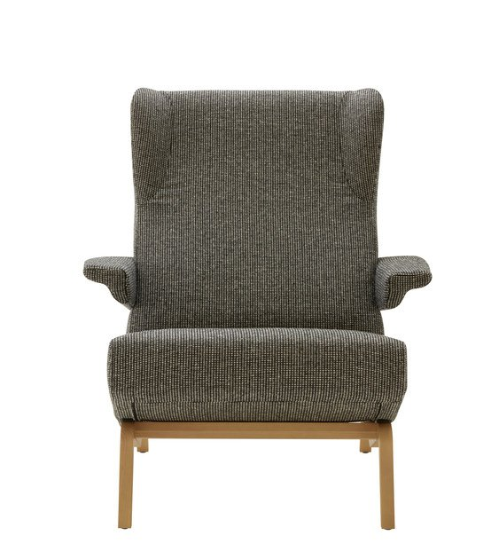 Fabric armchair with armrests ARCHI | Armchair with armrests - ROSET ITALIA