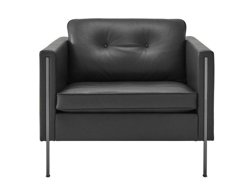 andy fauteuil en cuir by roset italia design pierre paulin. Black Bedroom Furniture Sets. Home Design Ideas