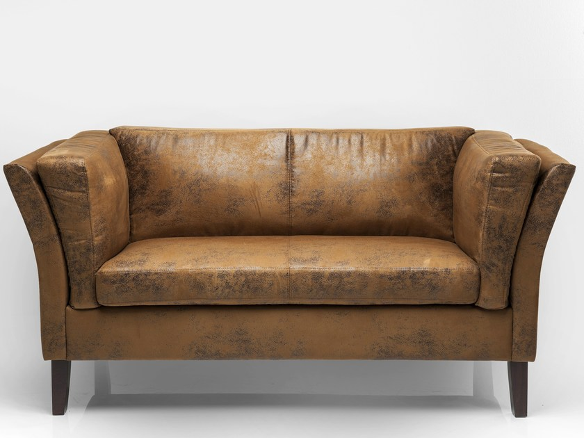 2 seater leather sofa CANAPEE VINTAGE ECO | 2 seater sofa - KARE-DESIGN