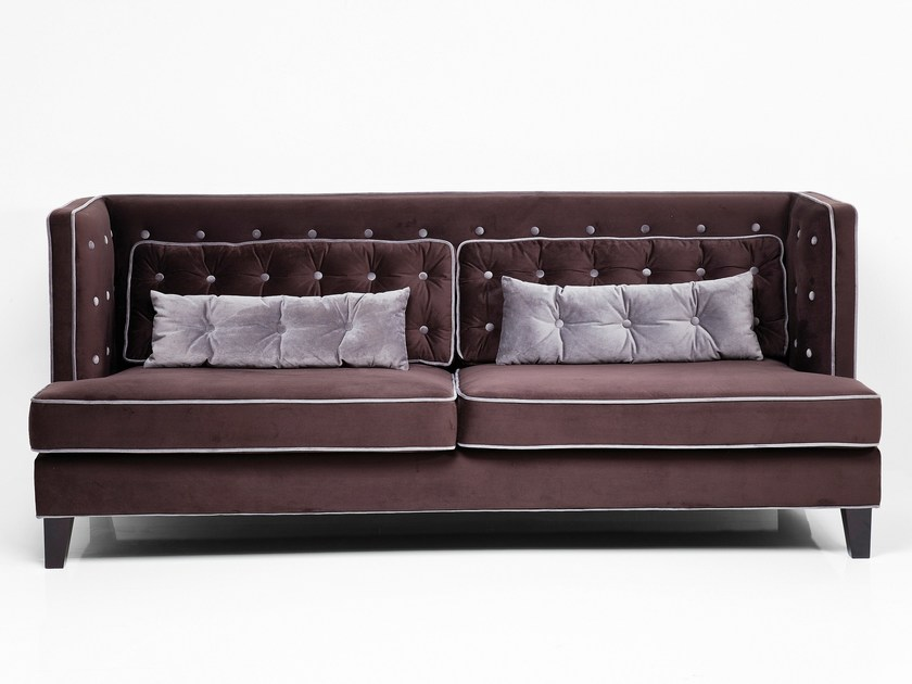 3 seater fabric sofa DENVER VELVET - KARE-DESIGN