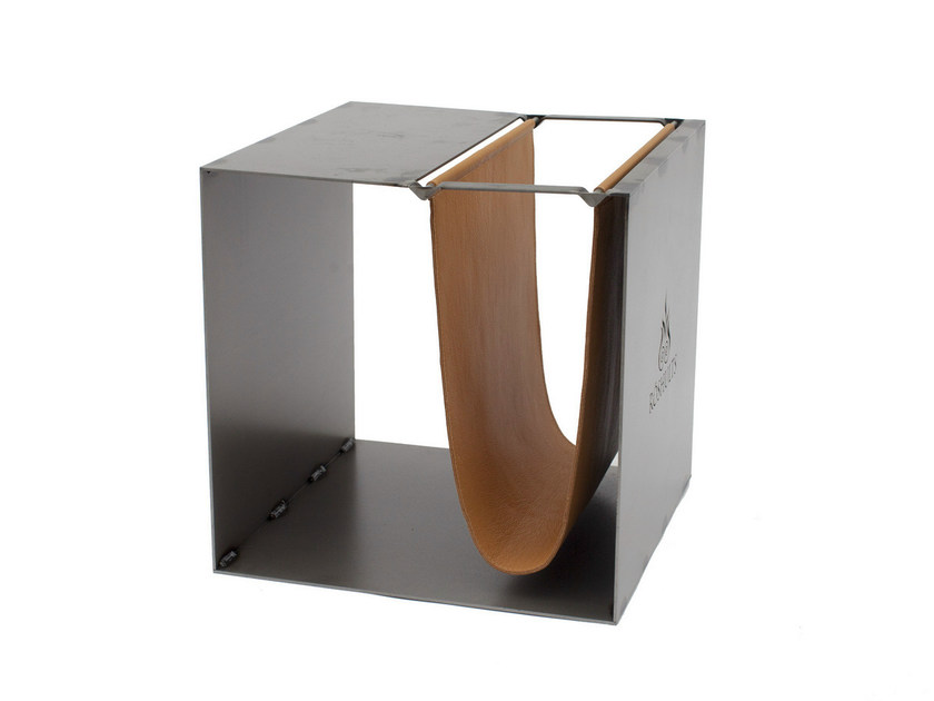 Square coffee table with integrated magazine rack BROOME - Röshults