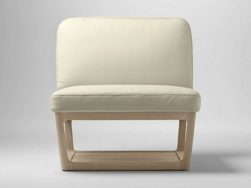 Upholstered leather armchair LÈIA | Armchair by Bosc