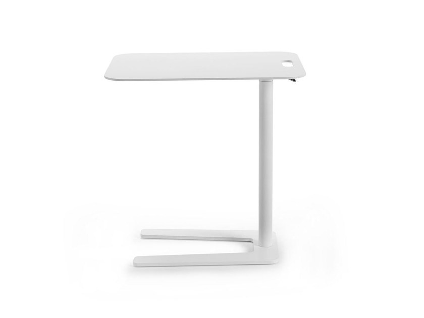 Height-adjustable rectangular coffee table TOOL by Offecct