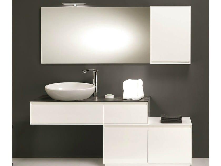 Wall-mounted vanity unit with drawers LU.25 - Mobiltesino