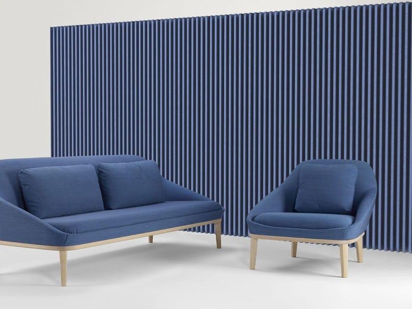 Decorative acoustical panels soundwave wall by offecct design christophe pillet - Decorative acoustical wall panels ...