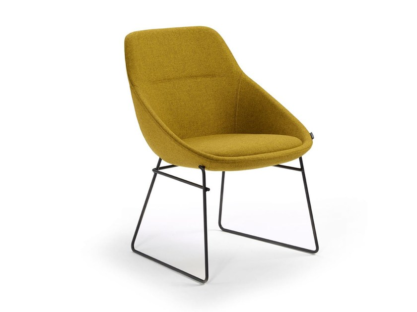 Chair with sledge base EZY LOW - Offecct
