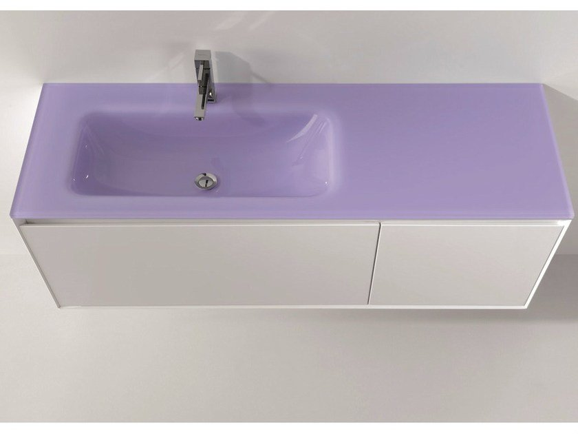 Lacquered vanity unit with drawers LU.02 - Mobiltesino