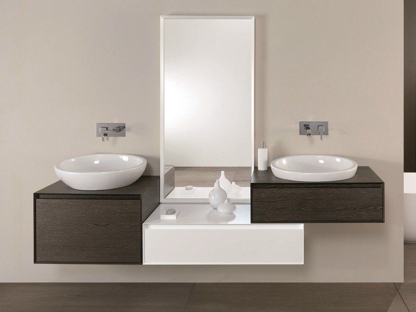 Elm vanity unit with drawers LU.17 by Mobiltesino