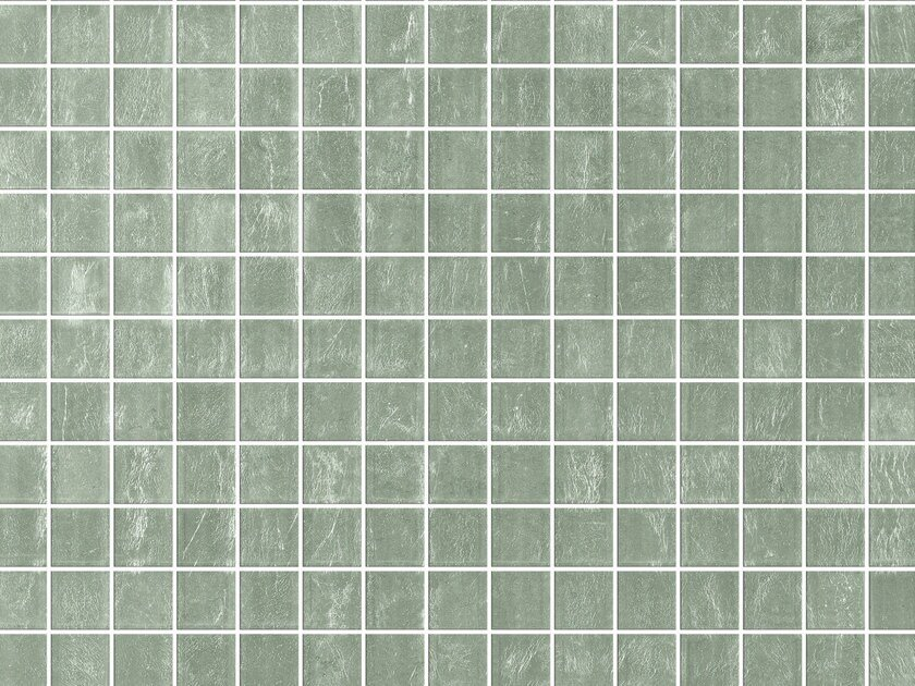 Glass mosaic WHITE GOLD CLEARVIEW - Elements Mosaic