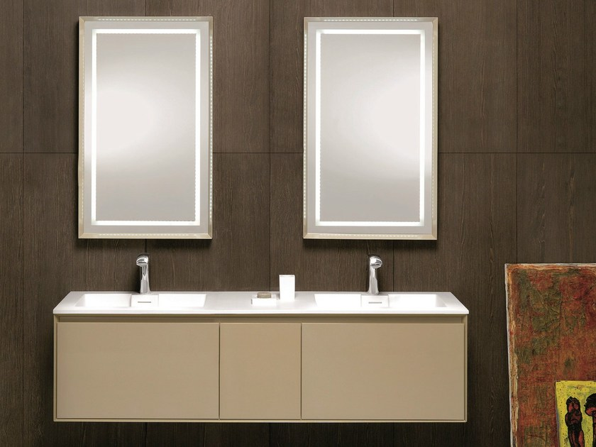 Double vanity unit with drawers LU.12 by Mobiltesino